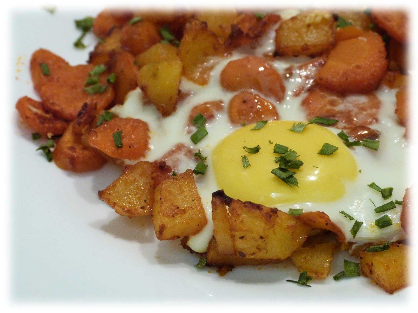 Cuisine Campus: Pommes de terre, carottes et oeuf au four