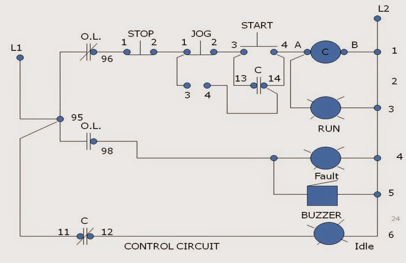 JOG MOTOR CONTROL | Motor Control Operation and Circuits
