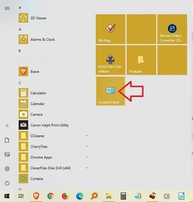 طرق فتح لوحة التحكم في نظام التشغيل Windows 10 ، ابدأ التثبيت