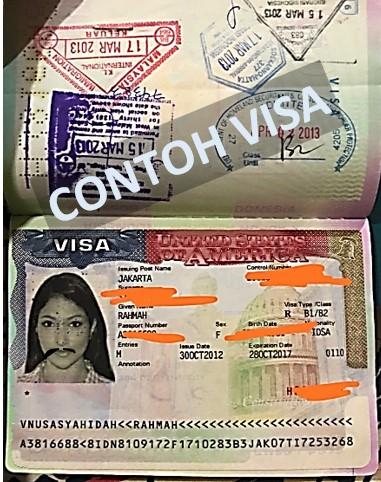 contoh bentuk visa adalah sticker