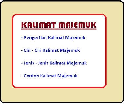 jenis - jenis dan contoh kalimat majemuk