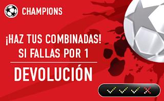 sportium promocion seguro combinada champions 13-14 febrero
