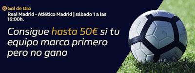 william hill Gol de Oro Real Madrid vs Atletico 1 febrero 2020