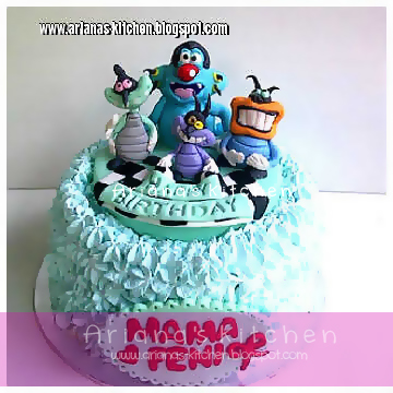 Arianas Kitchen Oggy and the cockroaches cake pesanan mba feni