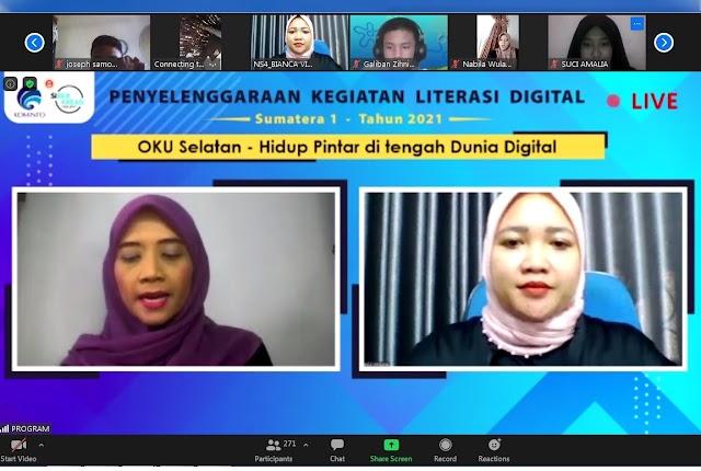 Webinar Literasi Digital OKU Selatan Beri Pencerahan tentang Hidup Pintar di Tengah Dunia Digital