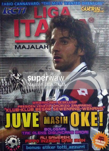 Del Piero Magazine Cover Juventus