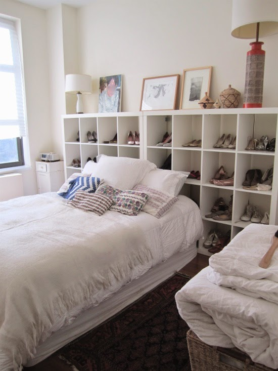 Shoe Storage Solution: Shoe Organizer Headboard