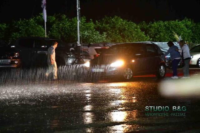 Έντονη βροχόπτωση στην Αργολίδα