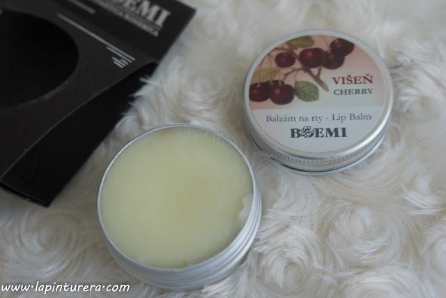 protector de labios cereza