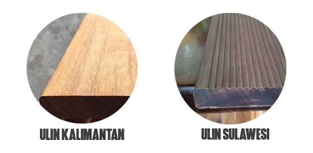 perbedaan kayu ulin kalimantan