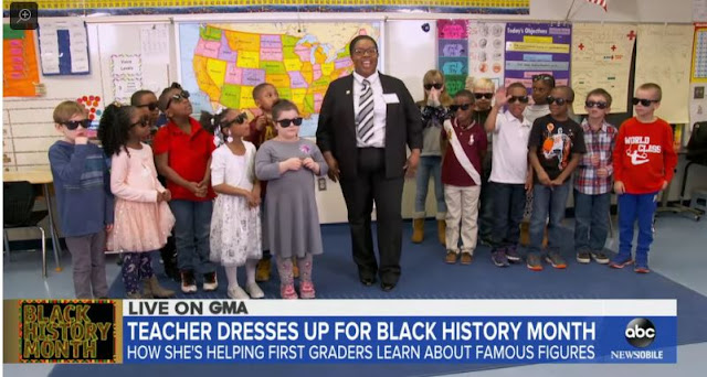 1st Grade Teacher Brings Black Excellence to the Classroom by Dressing Up as Historical Figures During Black History Month
