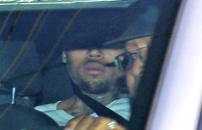 Chris Brown arrested after police surrounded his house for hours