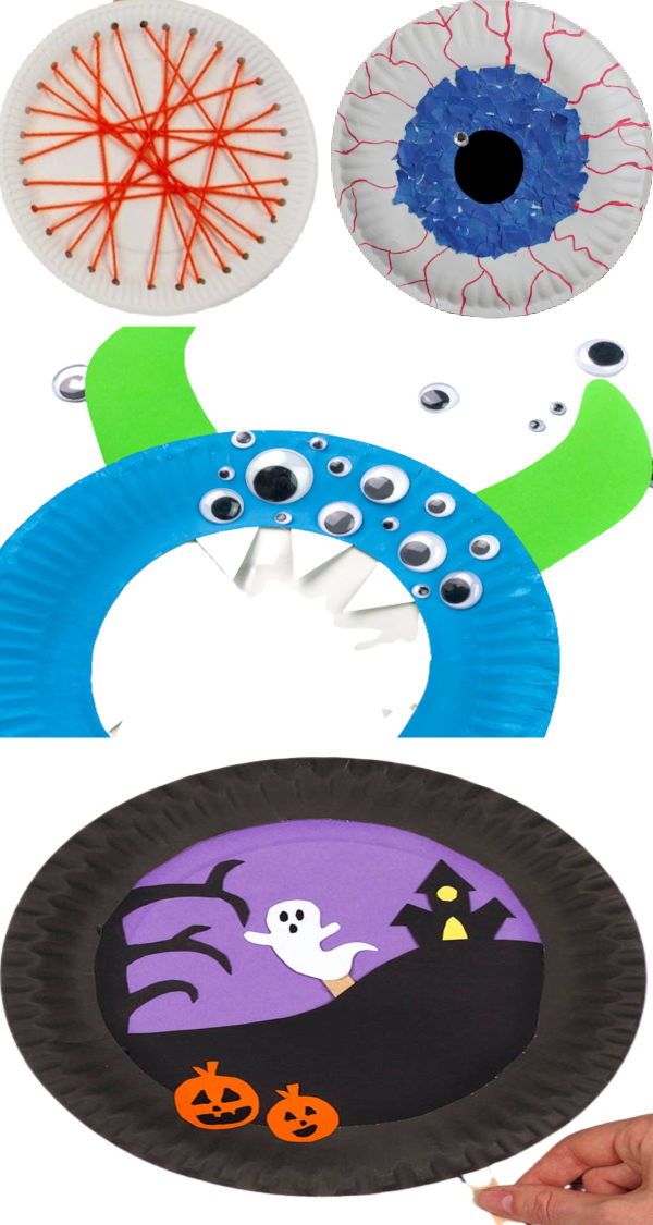 25+ Halloween paper plate crafts for kids. #halloweenpaperplatecrafts #halloweencraftsforkids #paperplatecrafts #growingajeweledrose #halloween