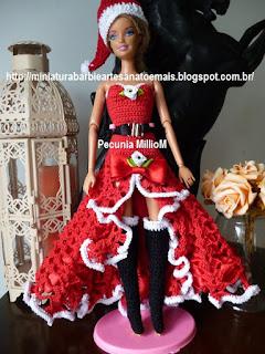 Barbie E Seu Vestido De Crochê Para Arrasar No Natal 2016 Criado Por Pecunia MillioM
