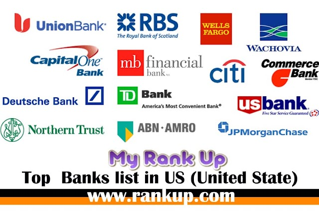 Top  Banks list in US (United State)