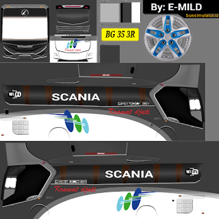 Download  Livery Bus Kramat Djati Legacy SR1