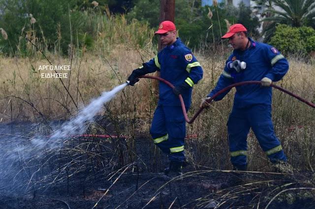 Πυρκαγιά στην οδό Άργους στο Ναύπλιο