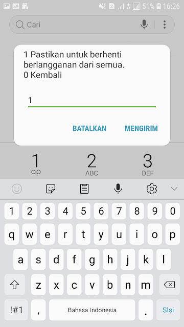 Cara berhenti layanan sms berlangganan XL