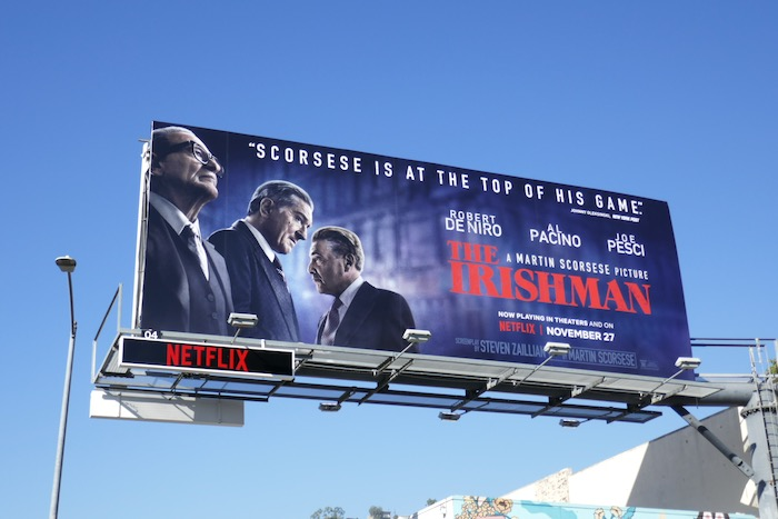Irishman Scorsese top of his game billboard