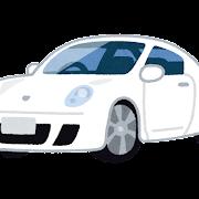 白いクーペのイラスト(車)