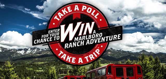 Marlboro wants you to take an easy little poll two times each month for your chance to win a Marlboro Ranch Adventure trip worth nearly $5000!