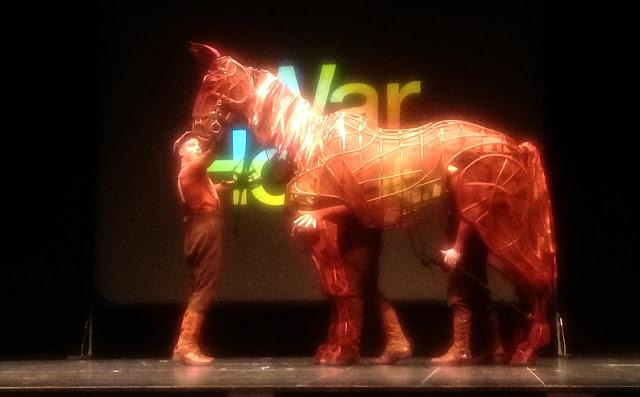 War horse on stage at the Bristol Hippodrome