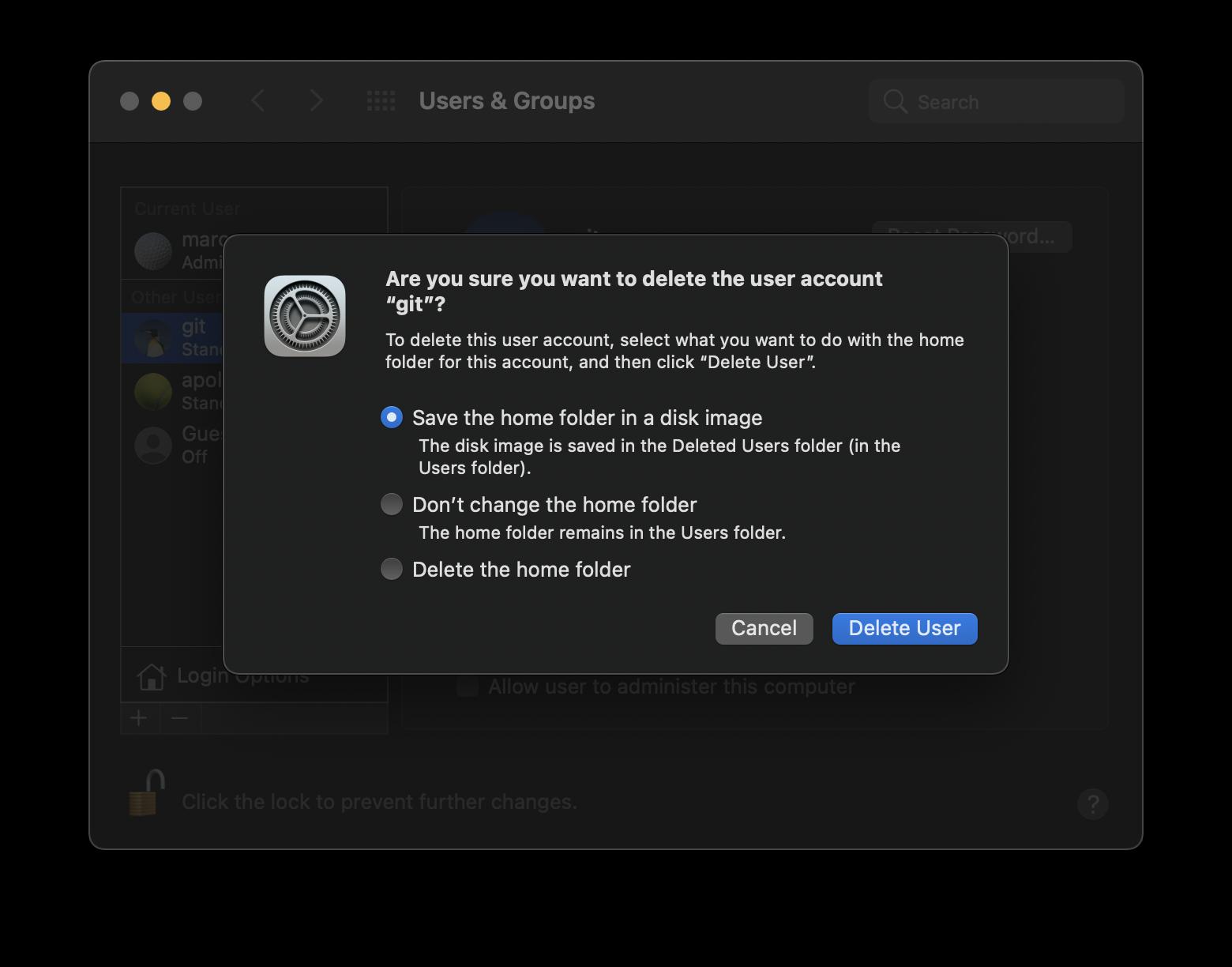 Come cancellare un utente su macOS