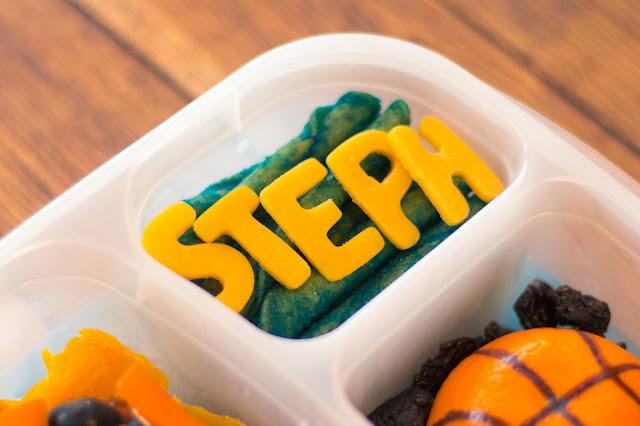 Steph Curry Golden State Warriors Food Art Basketball Lunch!