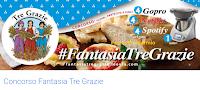 Logo Concorso ''Fantasia Tre Grazie'' : vinci gratis GoPro, Card Spotify, Netflix e 1 Robot Bimbi