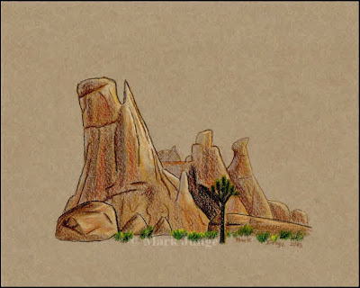 desert, drawing, drawings, Joshua Tree, National Park, Mojave