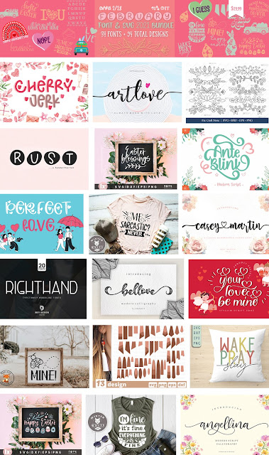 February Bundle from So Fontsy