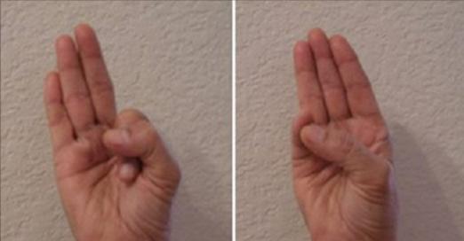 Ceci fait vraiment des merveilles : maintenez votre main dans cette position et vous ne croirez pas à ce qui arrivera après !