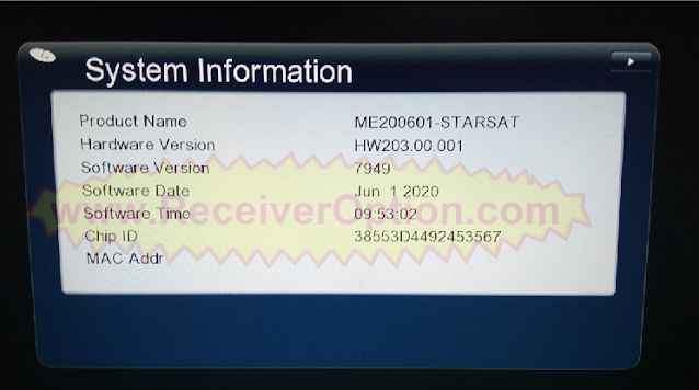 GX6605S STARSAT PRO SOFTWARE NEW UPDATE 1 JUNE 2020