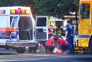 car crash pedestrians porterville tulare county plano street olive avenue