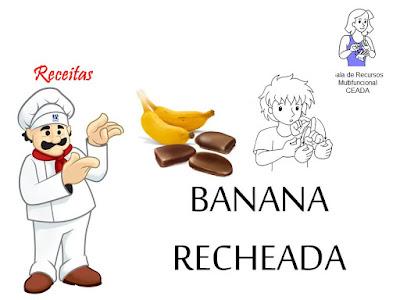 receitas de banana recheada em LIBRAS