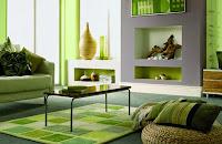 Sala color verde y gris