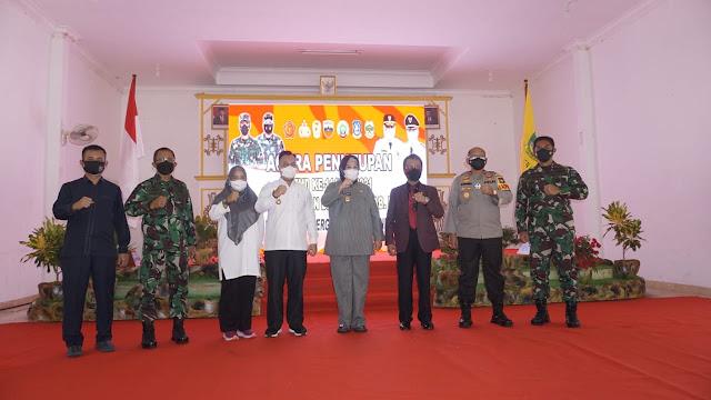 Bupati Lingga Menghadiri Penutupan TMMD Kodim 0315/Bintan