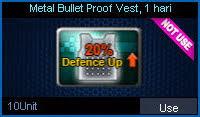 Metal Bullet Proof Vest