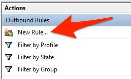 طريقة حظر البرامج من استهلاك الأنترنت في الخلفية على الويندوز 7