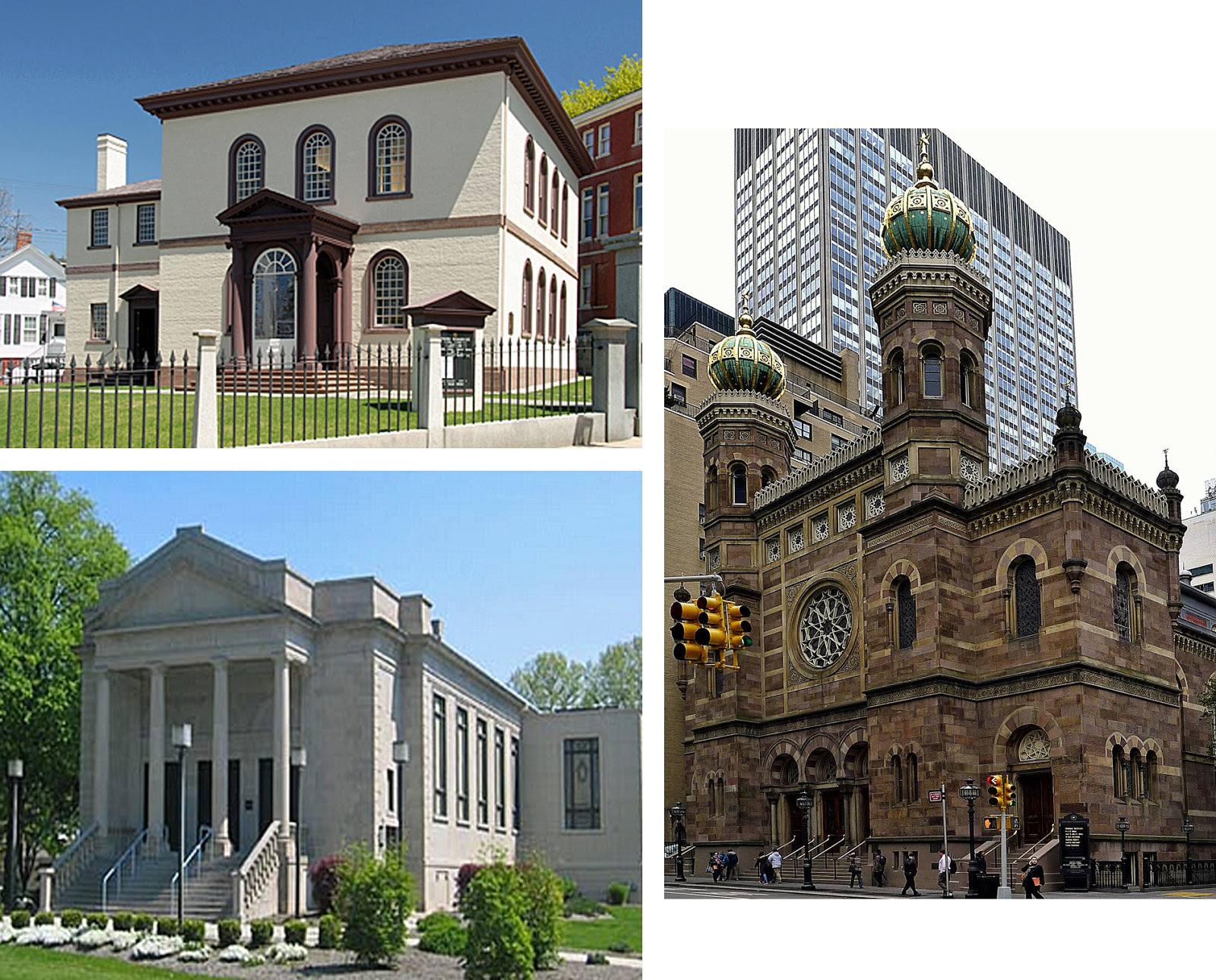 Pre World War II Synagogues: (UL) Touro Synagogue, Newport, RI, Built In  1759 1763 In The Palladian Style By Peter Harrison ...