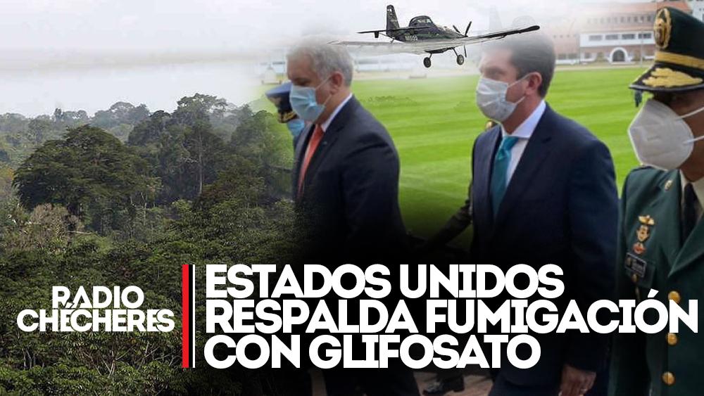Estados Unidos respalda fumigación aérea con glifosato y MinDefensa celebra