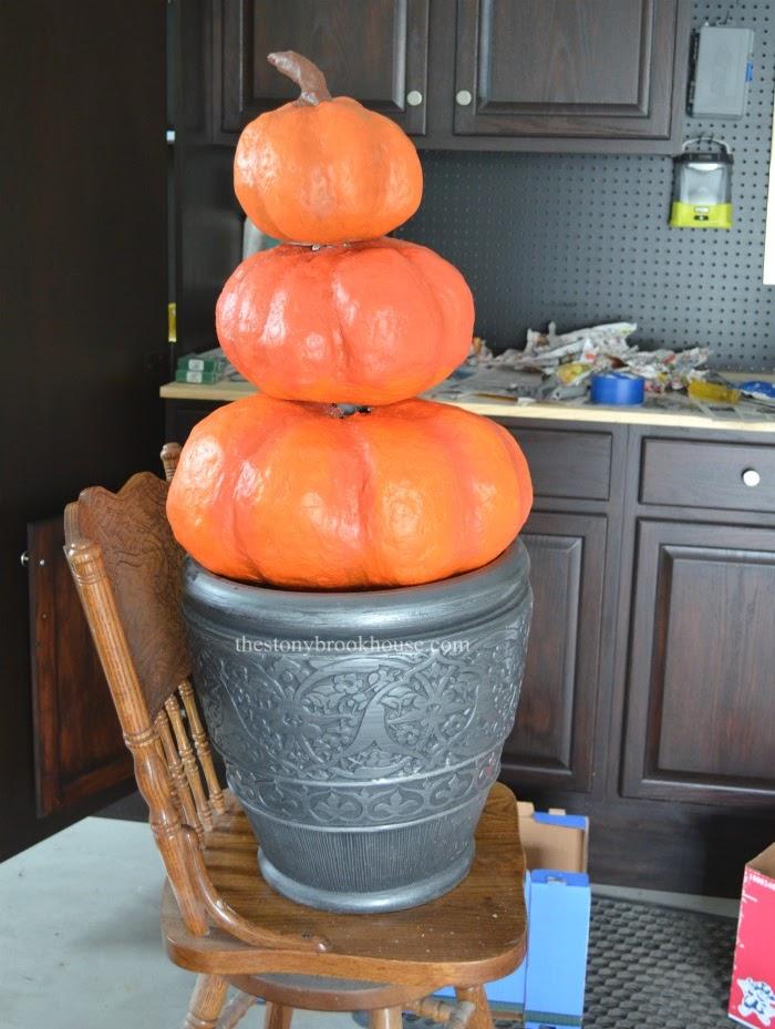 DIY Pumpkins stacked