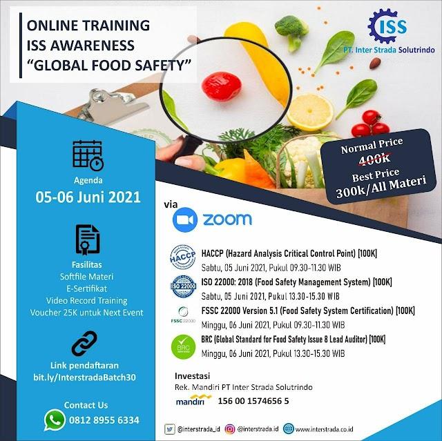 "(E-Sertifikat) Online Training ISS Awareness ""Global Food Safety"""