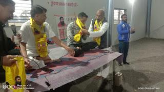 भारत स्वाभिमान राज्य प्रभारी राजेंद्र आर्य के मुख्य आतिथ्य में सात दिवसीय निःशुल्क योग शिविर सम्पन्न