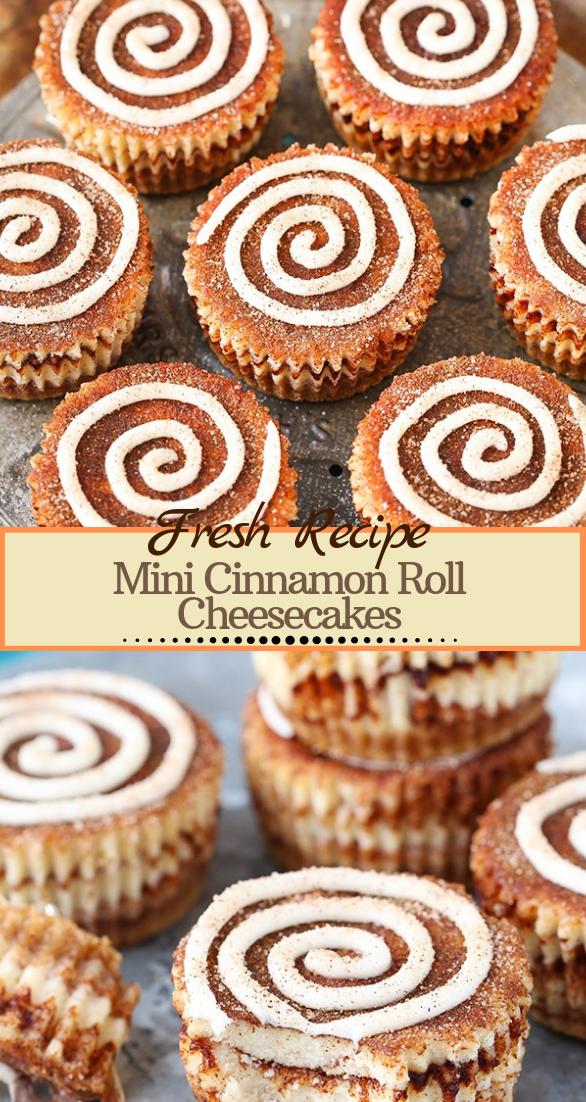 Mini Cinnamon Roll Cheesecakes #desserts #cakerecipe #chocolate #fingerfood #easy