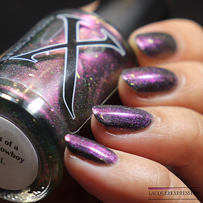 Swatch and review Ghost of a SPace Cowboy nail polish from the Shift in Space Time collection by Baroness X