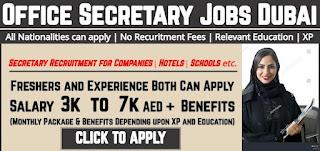 Secretary Jobs Recruitment in Dubai, UAE