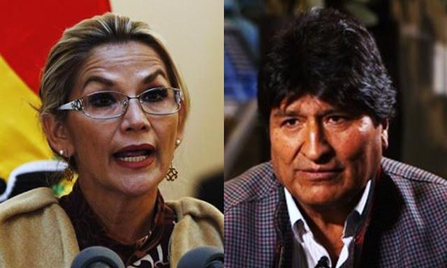 Jeanine Áñez, anuncia una orden de detención contra el expresidente boliviano Evo Morales
