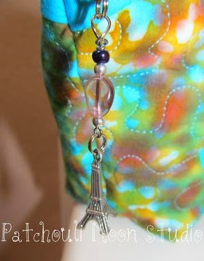 Patchouli Moon Studios Eiffel Tower Zipper Pull