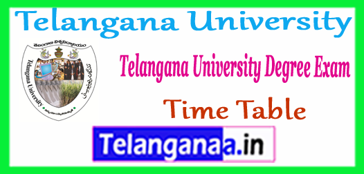 Telangana University UG Exam 1st 2nd 3rd  Time Table 2018